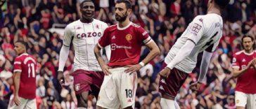 bruno fernandes misses penalty for man utd v aston villa