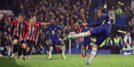 ben chilwell scores a superb volley for chelsea against brentford