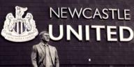 bobby robson statue at newcastle united stadium st james park