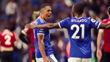 youri tielemans scores a sublime goal for leicester against manchester united