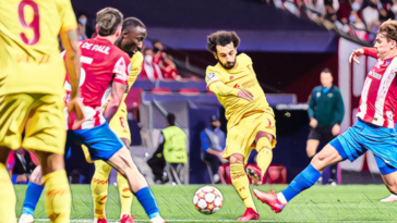 salah nets for liverpool against atletico madrid