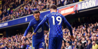 chilwell and count celebrate a chelsea goal